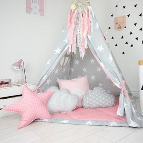 teepee set kids play teepee tent tipi kid playhouse wigwam. Black Bedroom Furniture Sets. Home Design Ideas