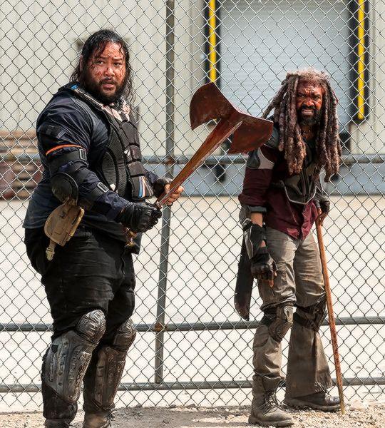 Ezekiel and Jerry in The Walking Dead Season 8 Episode 4 | Some Guy
