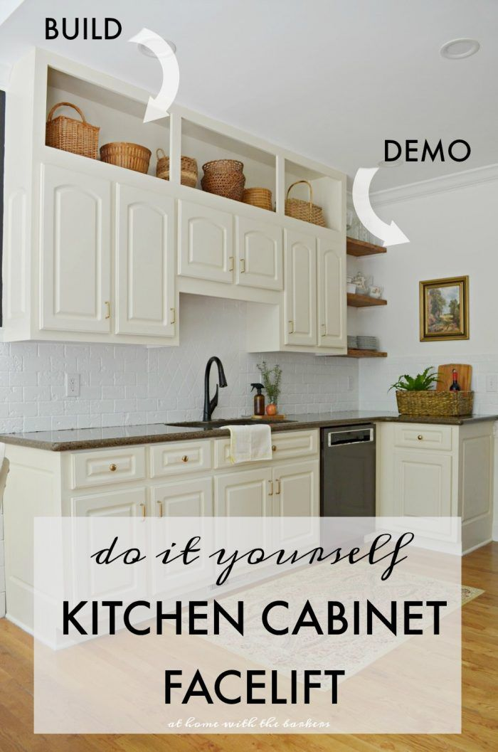 Kitchen Cabinet Facelift At Home With The Barkers Kitchen Cabinets Decor Above Kitchen Cabinets Kitchen Cabinets Makeover
