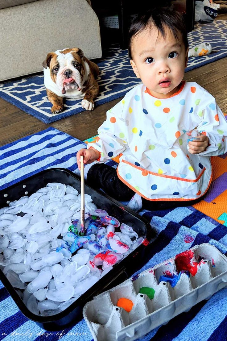 """Painting Ice: A """"Cool"""" Sensory Activity for Toddlers and Preschoolers"""