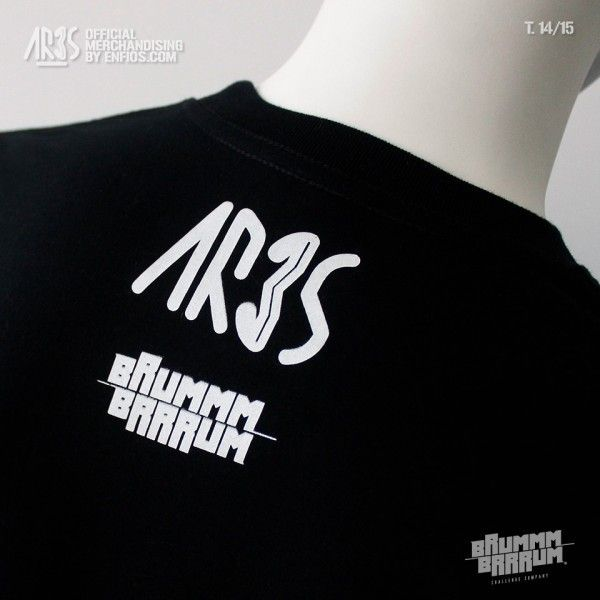 Camiseta Black BRUMMM BRRRUM 14-15 (Parte trasera)