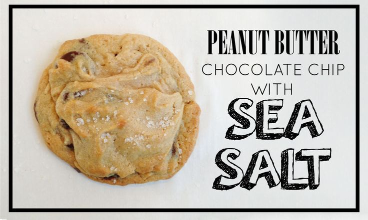Peanut butter chocolate chip cookies with sea salt | Cookie Monster ...