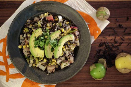 Mexican Wild Rice Salad (Insalata di Riso Selvatico alla Messicana) - The Clean Gourmet