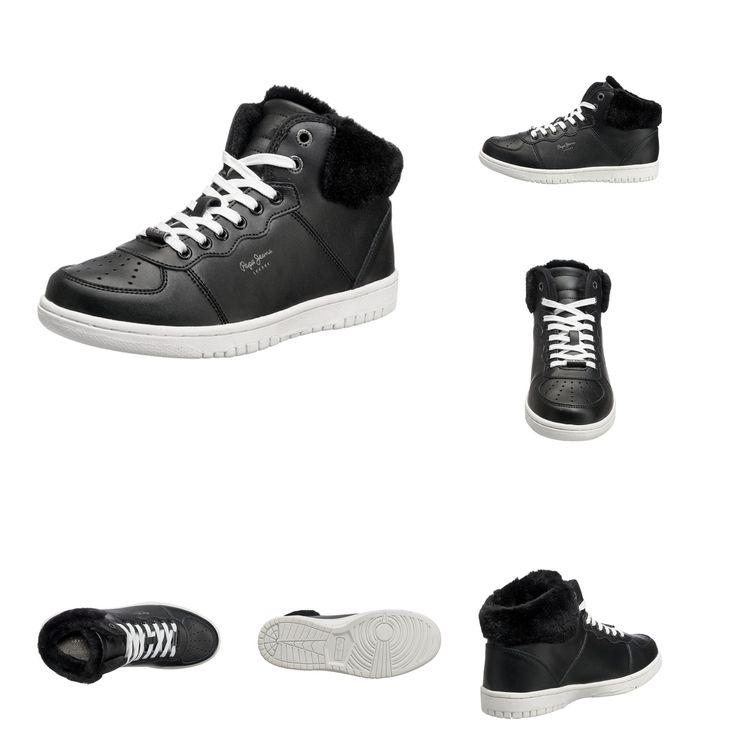 8433997411665 | #Pepe #Jeans #Damen #Lindsay #Fake #Fur #Sneakers #schwarz