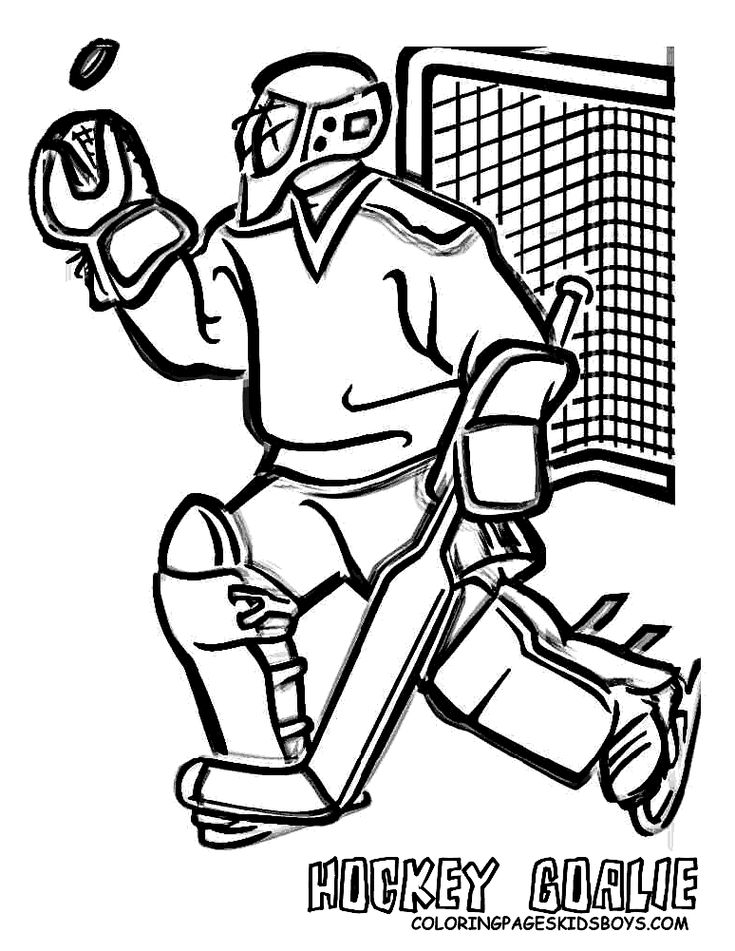 NHL Goalie Coloring Pages | Hockey Goalie Coloring Pages Book For Boys Pictures