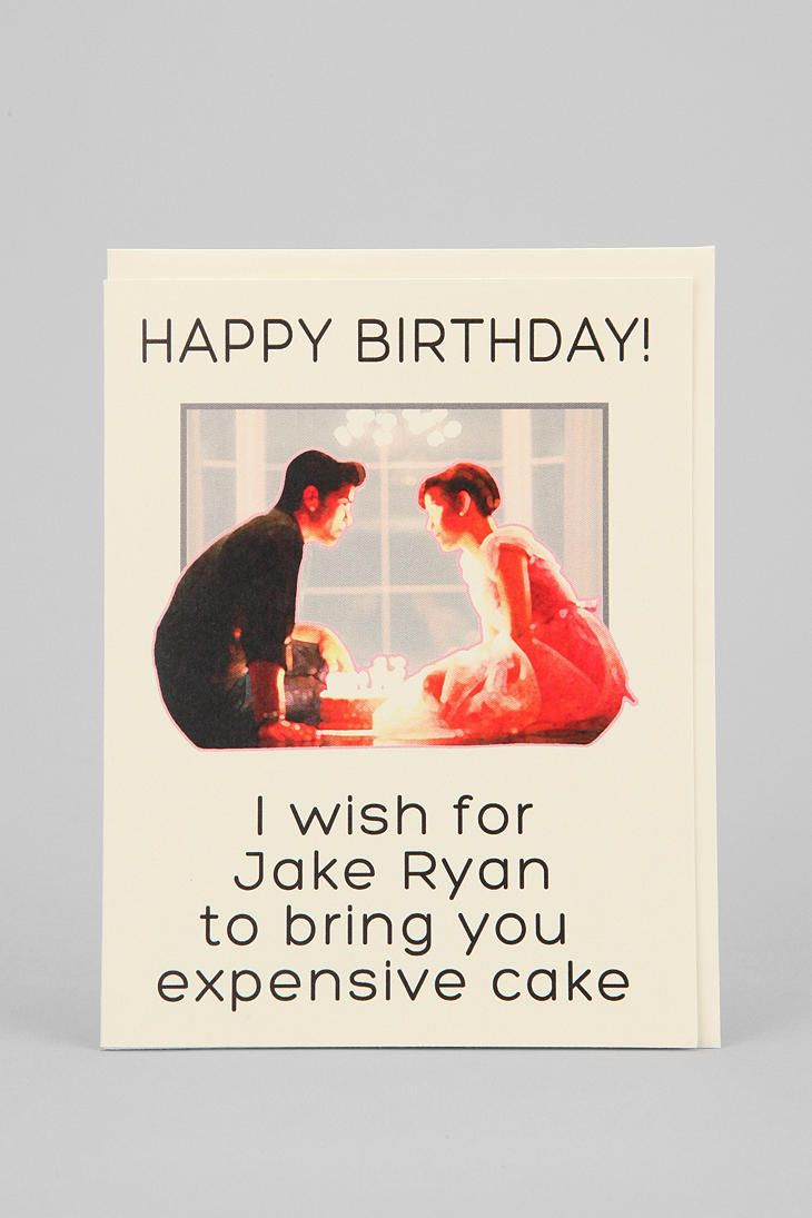 Sixteen Candles Seas And Peas Jake Ryan Happy Birthday Card.
