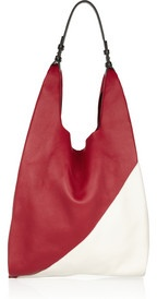 Graphic Market 2 textured-leather tote
