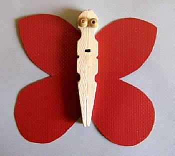 vlinder van knijper