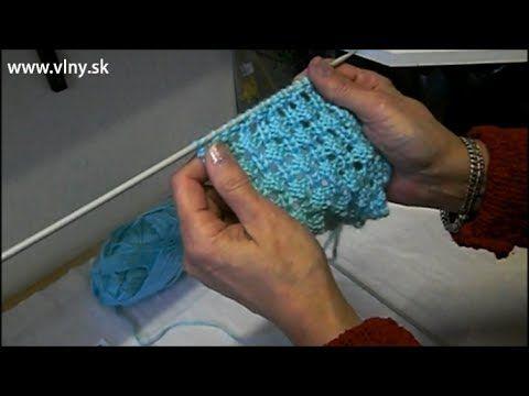 Dierkovaný kockovaný vzor na pletenie