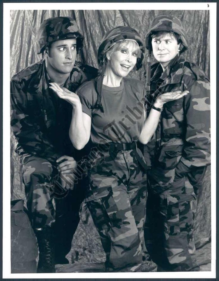 "Matthew Ansara, Barbara Eden and David Kaufman in ""Your Mother Wears Combat Boots""."