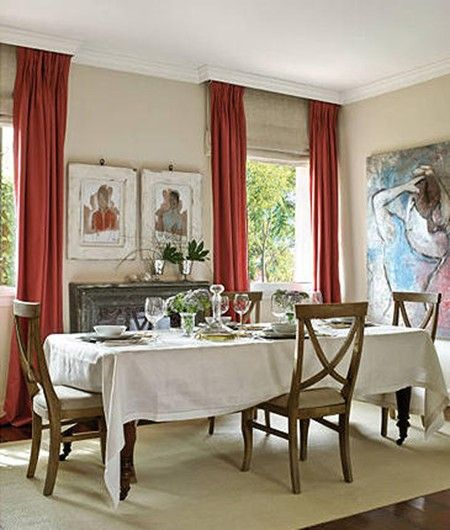 With window dressings, the choice is usually between using a pretty curtain pole or covering a not-so-pretty pole/track with a pretty pelmet or valance. I recently came across this brilliant idea o...
