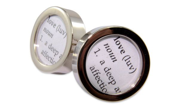CUSTOM - Choose your Own Words for your Dictionary Definition Cuff links by Gwen DELICIOUS Jewelry Design
