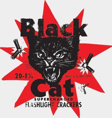 Black Cat Fireworks - Classic Art Work