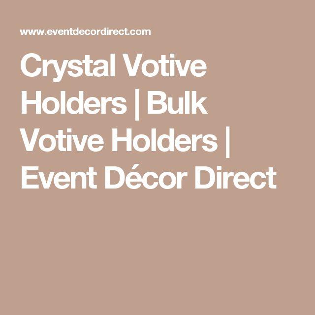 Crystal Votive Holders| Bulk Votive Holders | Event Décor Direct