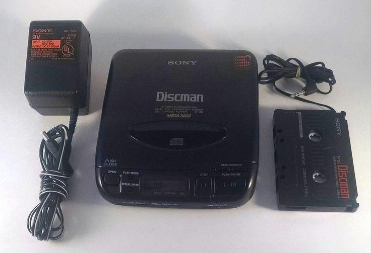 Sony D33 Discman Personal CD Player Walkman 1991 Cassette