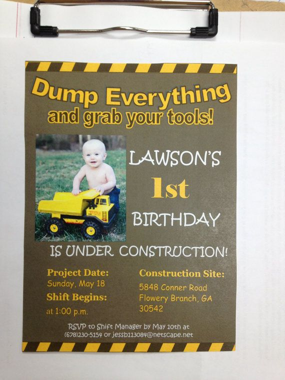 best 25+ construction birthday parties ideas on pinterest, Birthday invitations