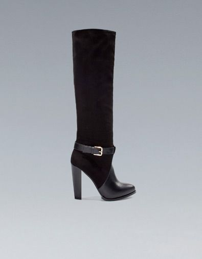 HIGH HEEL BOOT WITH BUCKLE - TRF - New this week - ZARA