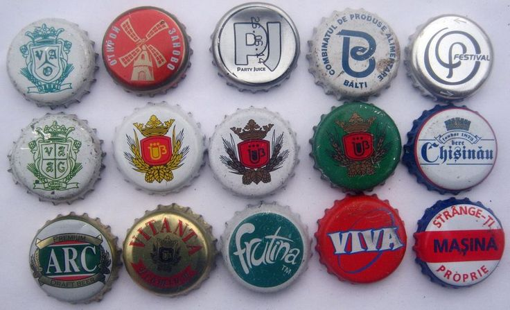 Bottle crown caps beer from Moldova