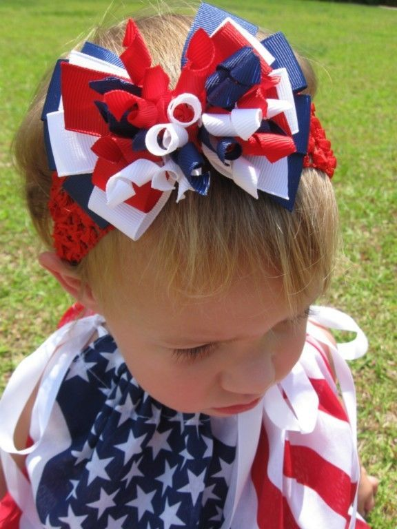 The finishing touch:  a big fluffy hair bow!