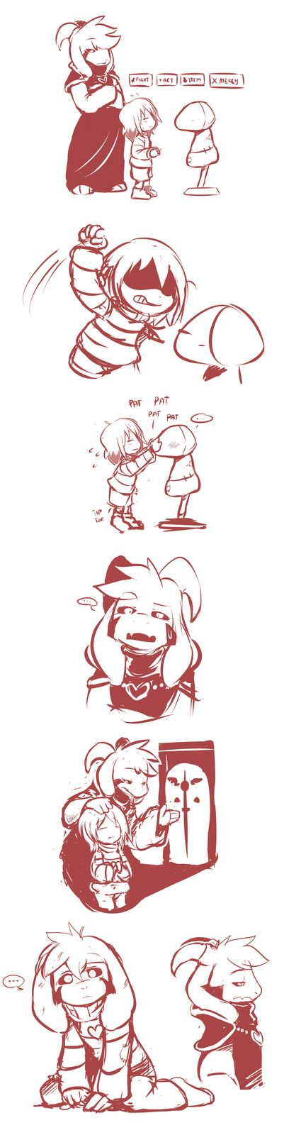 What if Asriel was the one in the Ruins instead of Toriel?
