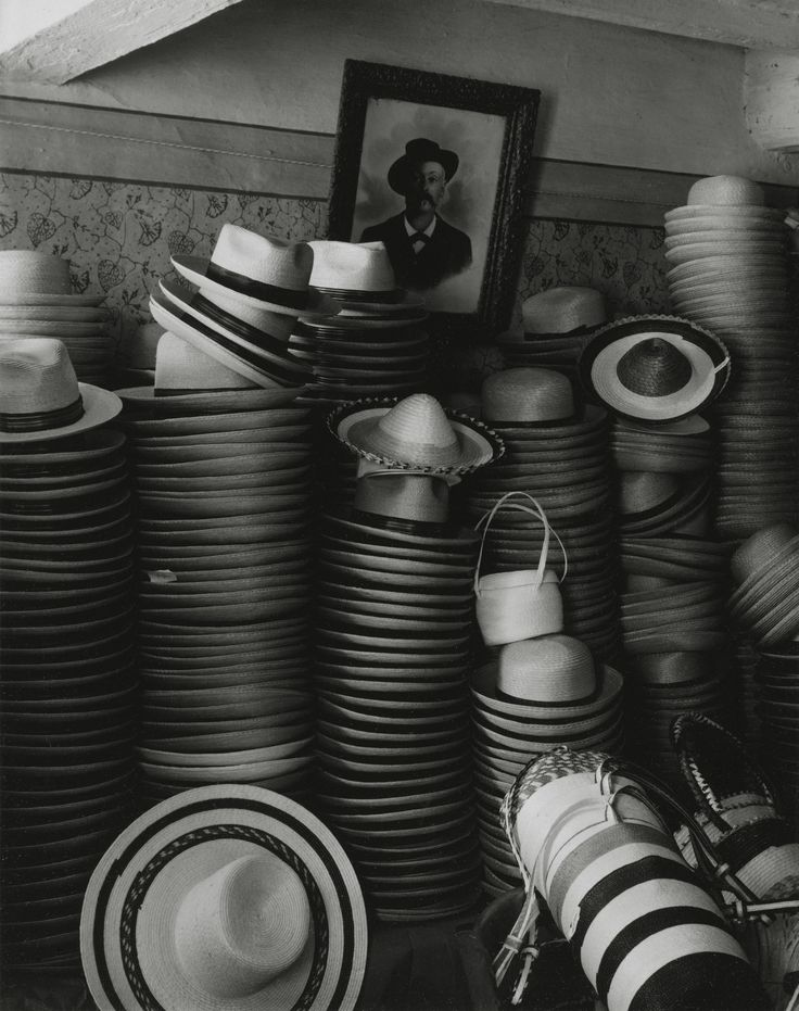 Paul Strand's Gorgeous, Revelatory Photos of an Italian Village in the 50s | VICE | United States  HAT FACTORY, LUZZARA 1953 (negative); 1960s (print); gelatin silver print; image: 9 3/4 x 7 3/4 in. (24.7 x 19.7 cm); sheet: 9 15/16 x 8 1/16 in. (25.2 x 20.4 cm) The Paul Strand Collection, partial and promised gift of Marguerite and Gerry Lenfest, 2009-160-417