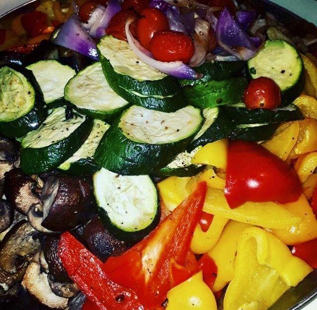 Roasted vegetables #salad #Wedding #buffet