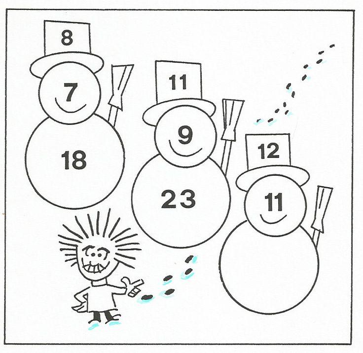 Gioco  matematico  di  Albus Un po' di fresco contro il caldo estivo. Quale numero manca nel corpo del terzo pupazzo?  #albus #giocomatematicoalbus #enigmistica #enigmi #matematica  #einstein enigmionline.blogspot.it