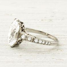 My dream ring.  Vintage-Art-Deco-Oval-Cut-Diamond-Engagement-Ring.
