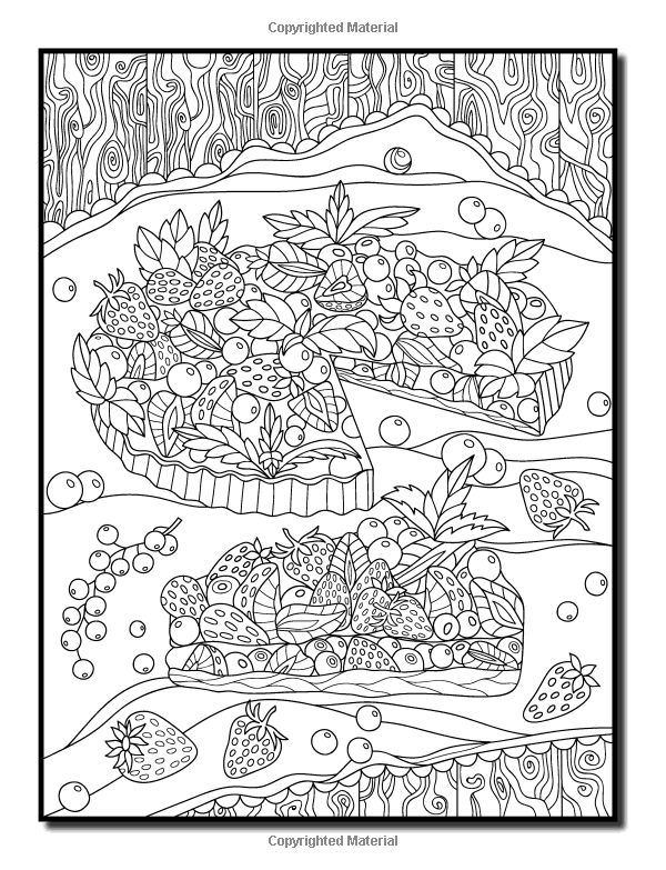 Amazon Com Delicious Desserts An Adult Coloring Book