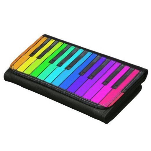 Rainbow Piano Keyboard Leather Wallet