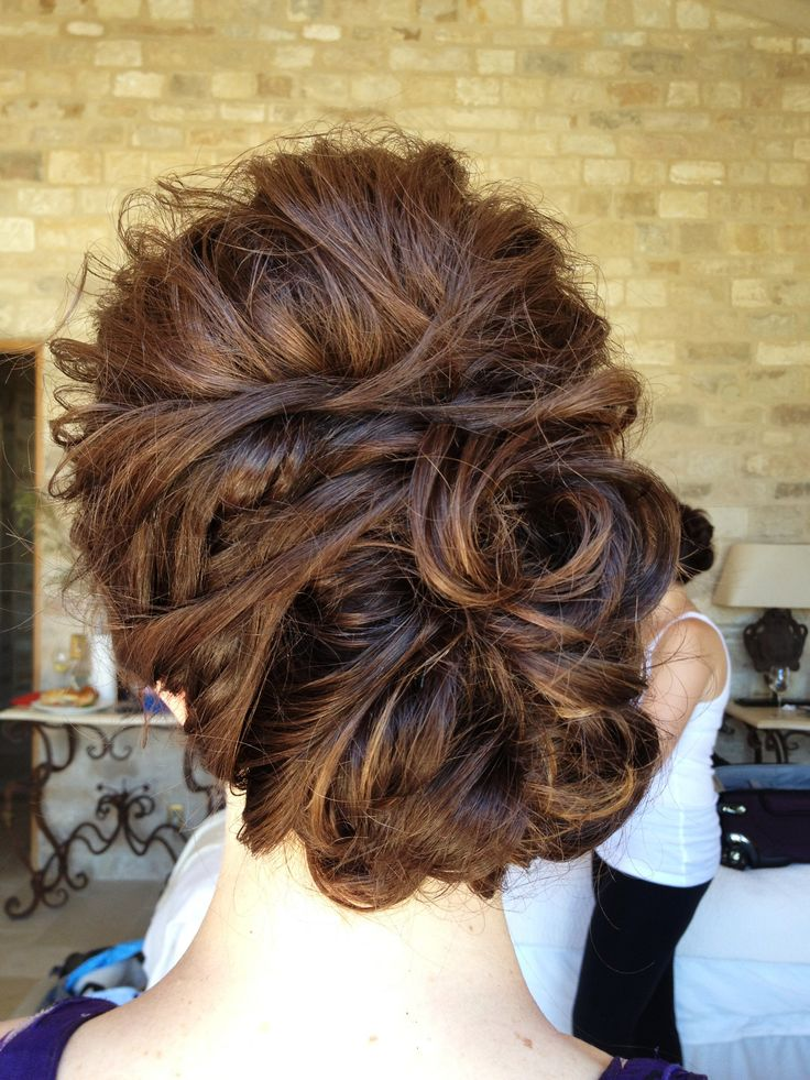 beautiful side swept curled updo ~  we ❤ this! moncheribridals.com