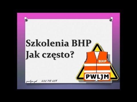 Szkolenia BHP - jak często? P.W. LJM Leszek Maruszczyk #BHP…