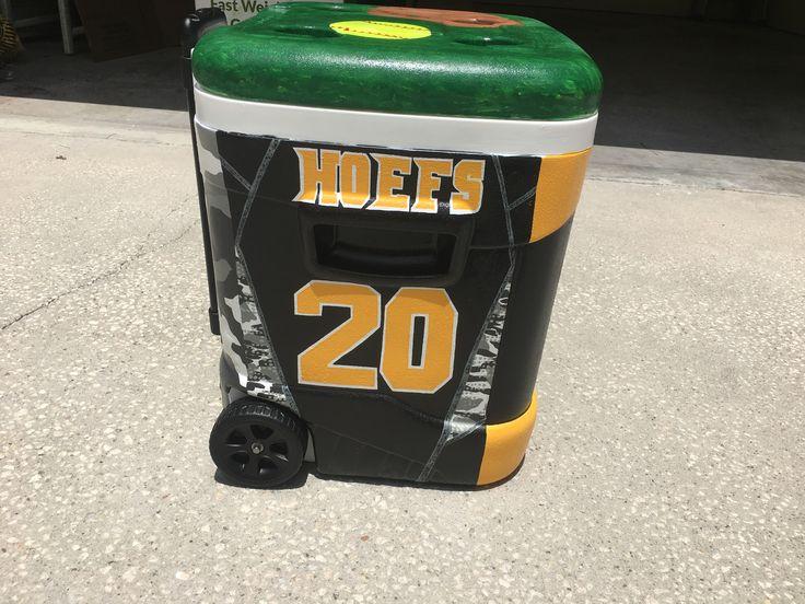 Baseball softball jersey painted cooler