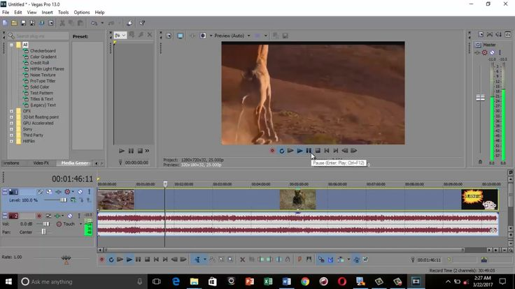 How to do slow motion in Sony Vegas Pro 13