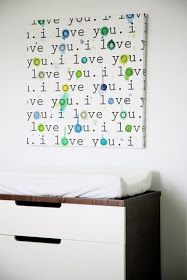 i love you. canvas