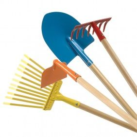 Primary Garden Tools + Other Kid Size Household Items & Toys