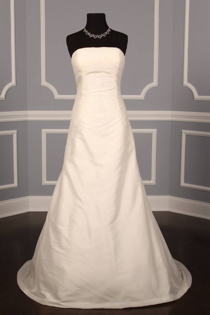 Justina McCaffrey Kimberly 1005 wedding dress is on sale!   This is a beautiful Aline Silk Shantung gown with delicate silver confetti beads on the bodice. http://www.yourdreamdress.com/justina-mccaffrey-1005-kimberly-couture-bridal-gown-designer-discount.html
