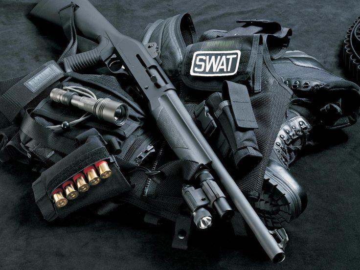 Armas Shotgun  Swat Papel de Parede