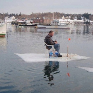 Ice fishing #Maine :)