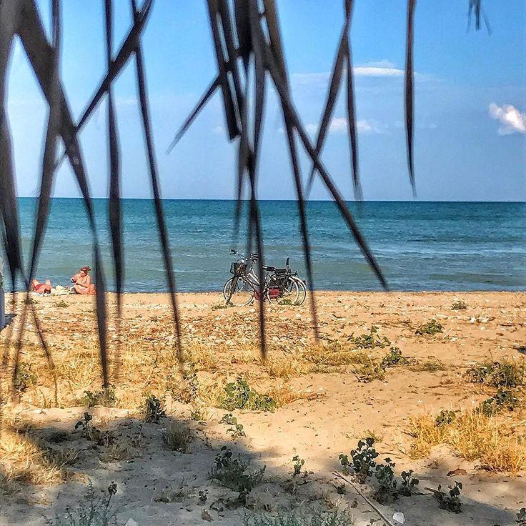Il pomeriggio perfetto! #mare #bici #bicicletta #spiaggia #abruzzo #martinsicuro #albaadriatica #pistaciclabile #villarosa
