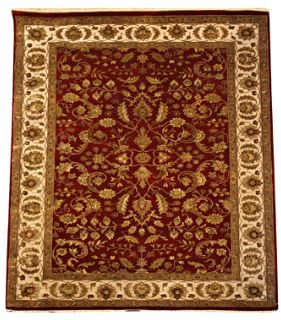 Beautiful new rug design of Amirtsari Kashan  Indian Traditional Collection, Kashan floral motif intricately woven with fine New Zealand wool & Silk, Excellent quality. Available in 285 x 200 cm.