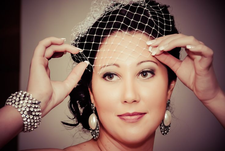 French Veil with detachable flower