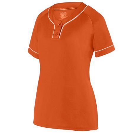 Printed Women's Overpower Two-Button Softball Jersey