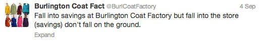 Burlington Coat Factory's Fake Twitter