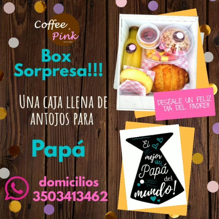 10 Me Gusta 0 Comentarios Coffee Pink Coffee Pink2012 En Instagram Existen Mil Formas De Decir Te Quiero Envíale A Papá El Mejor Food Breakfast Mini