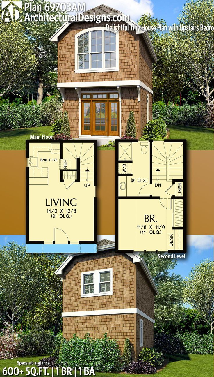 Architectural Designs Tiny House Plan 69703am Gives You 1 Bedrooms 1 Baths And 2 200 Sq Ft Ready When Yo Tiny House Plan House Plans Tiny House Floor Plans