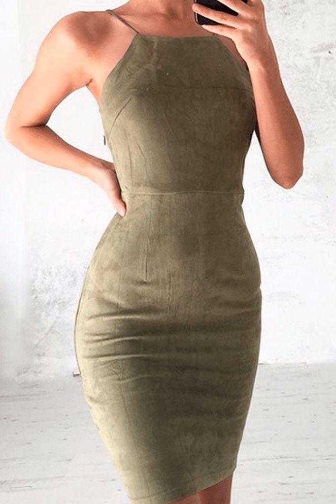Lace Up Back Dress