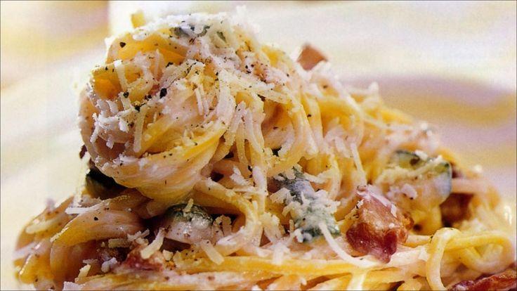 Kremet pasta med kylling og hvitløk