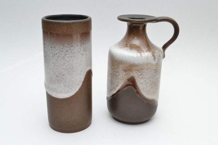 Set of two West German pottery vases by Ceramano by RetroFatLava