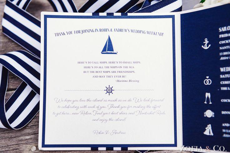 #nantucket #nautical #wedding #invitations White Elephant Wedding by Zofia & Co.
